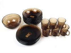 Столовый набор 19 предметов Дымка рефленый 62104 - фото 5407