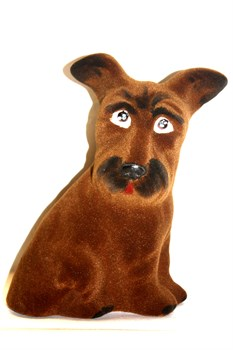 Копилка Собака Клякса флок 20 см - фото 5753