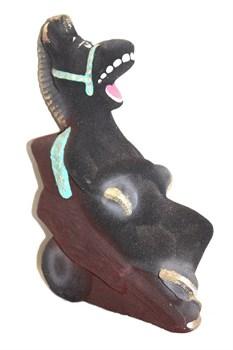 Копилка Конь Юлий на телеге флок 27 см - фото 5755