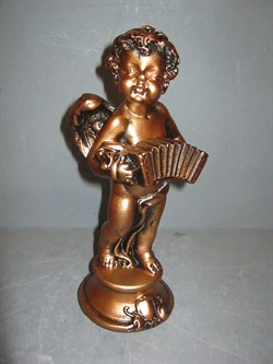 Ангел с гармошкой бронза /1х35/22 см - фото 6219
