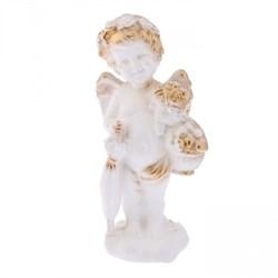 Ангел с зонтиком бело-золотой/1х20/11х10х22 см - фото 6565