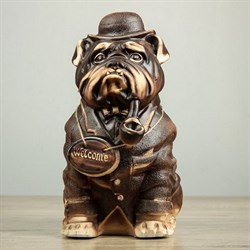 Фигура Собака Буржуй шамот/1х5/ 35 см - фото 6640