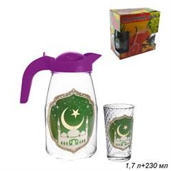 Набор 7 предметов Мечеть (кувшин 1,7 л+6 стаканов) - фото 6752