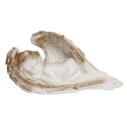 Ангел в крыле средний бело-золотой/1х6/ - фото 6811
