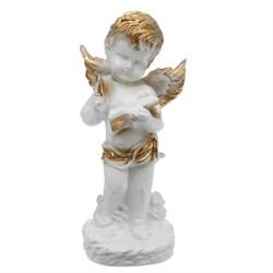 Ангел с книгой бело-золотой/1х8/16х12х32 см - фото 6815