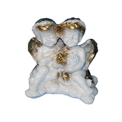 Ангелы пара малая №2 с букетом/1х20/14х14х10 см - фото 6825