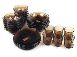 Столовый набор 30 предметов Дымка рефленый 62106 - фото 6874