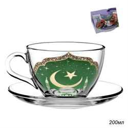 Чайная пара 2 предмета Мечеть 200 мл в подар.уп-ке - фото 7311