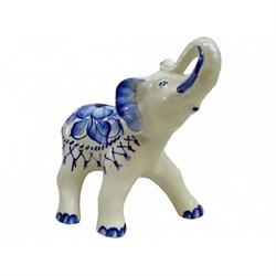 Статуэтка Слон гжель /1х24/ 18х20х10 см - фото 7771