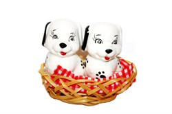 Набор Соль+Перец Собаки 2 шт.в корзинке 170732 - фото 8053