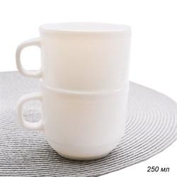 Кружка 250 мл белая /уп.6/72/стеклокерамика - фото 8721