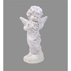 Ангел на облаке с цветами перламутр 133х61х58 мм - фото 8797