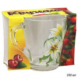Кружка 1649 Цветы микс 250 мл 1 штука в подарке - фото 8860