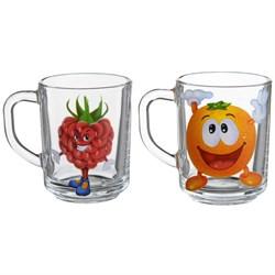 Кружка чайная 1335 /уп.6 шт/Веселые фрукты 200 мл - фото 8872