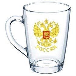 Кружка 1334 Герб России /1х20/ 300 мл - фото 9515