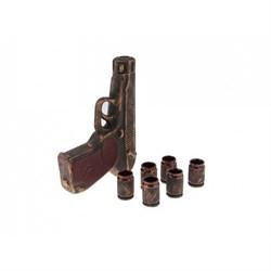 Винный набор Пистолет Макаров брон/1х14/5х15х24 см - фото 9584