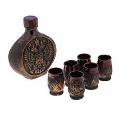Винный набор Россия бронза 0,75 л/1х10/ 5х17х20 см - фото 9588
