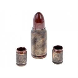Коньячный набор Пуля бронза 0,5 л/1х60/ - фото 9601