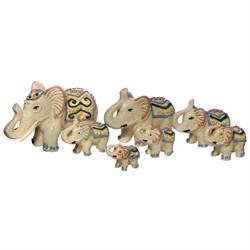 Статуэтки Семь слонов узор /1х16/ - фото 9831