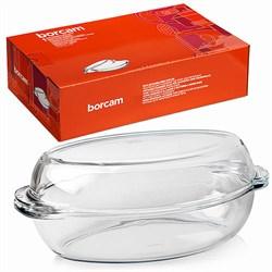 Посуда для СВЧ Borcam 59062 овальная 2,25 л - фото 9858