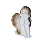 Ангел думающий большой золото /1х6/27х20х21 см