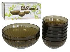 Набор салатников 8 пр.Elika дымка