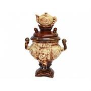 Чайник-сувенир  Самовар шамот /1х55/ 11х11х18 см