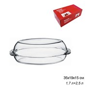 Посуда для СВЧ Borcam 59052 овальная с крышкой 3 л