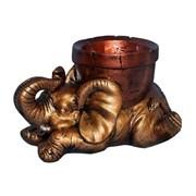 Вазон для цветов Слон бронза 17х30 см