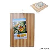 Доска Бамбук разделочная 26х36х1,7 см