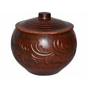 1491 Горшок для запекания красн.глина 1,5 л /1х4/