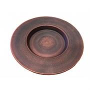 16718 Тарелка для пасты d=21 см красная глина/1х18