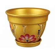 Вазон для цветов 1,8 л золотой