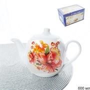 Чайник заварочный 600 мл Цветы микс 2 сорт