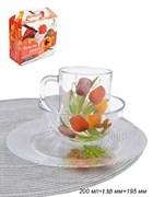 Набор 3 предмета Цветы (кружка+салатник+тарелка)