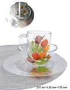 Набор 3 предмета Цветы(кружка+салатник+тарелка)пл.
