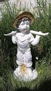 Мальчик с коромыслом бело-золотой 34х18х49 см