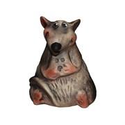 Копилка Крыс с сыром шамот/1х80/ 7х8х10 см
