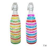 Бутылка для вина 1 л декор / PL- 142 /уп 30/