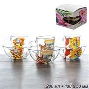 Набор 2 предмета Мышки микс (кружка+салатник)