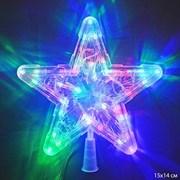 Гирлянда звезда на вершину елки / 10L LED /уп 100/