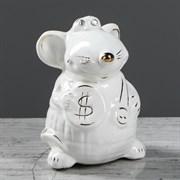 Копилка Крыс мальчик белая глазурь/1х30/ 7х7х10 см