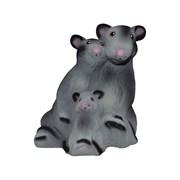 Копилка Крысы семья флок/1х15/ 21 см