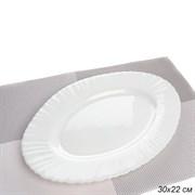 Блюдо овальное 300 мм белое / LHYP-120XN (WHITE)