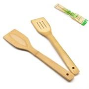 Лопатки 2 предмета из бамбука Y4-2 /уп 300/