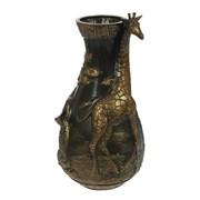 Ваза Жираф бронза/1х5/ 21х21х38 см