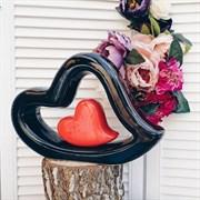 Ваза Сердце в сердце/1х14/ 31х8х21 см