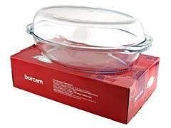 Посуда для СВЧ Borcam 59032 овальная с крышкой