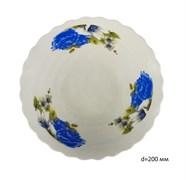 Миска №8 арт.212 Синие цветы d=195, h=50 мм /уп.48