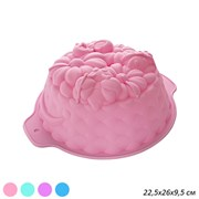 Форма для выпечки 22 см Цветок/ YH-136 силиконовая